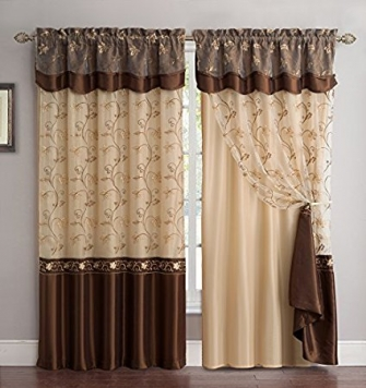Embroidery Curtain Set